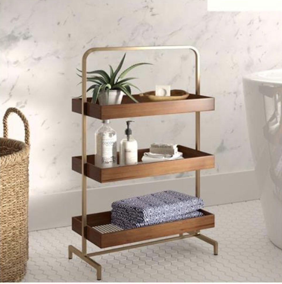 Pin by A Doyle on Home inspiration  Shelves, Decor, Bathroom shelves