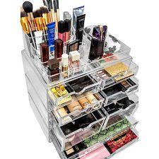X Large Drawer Cosmetic Organizer Acrylic Makeup Storage Box Case Jewelry  Holder