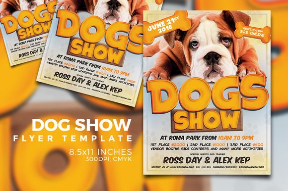 Dog Show Flyer Template Flyer Template Template And Graphics