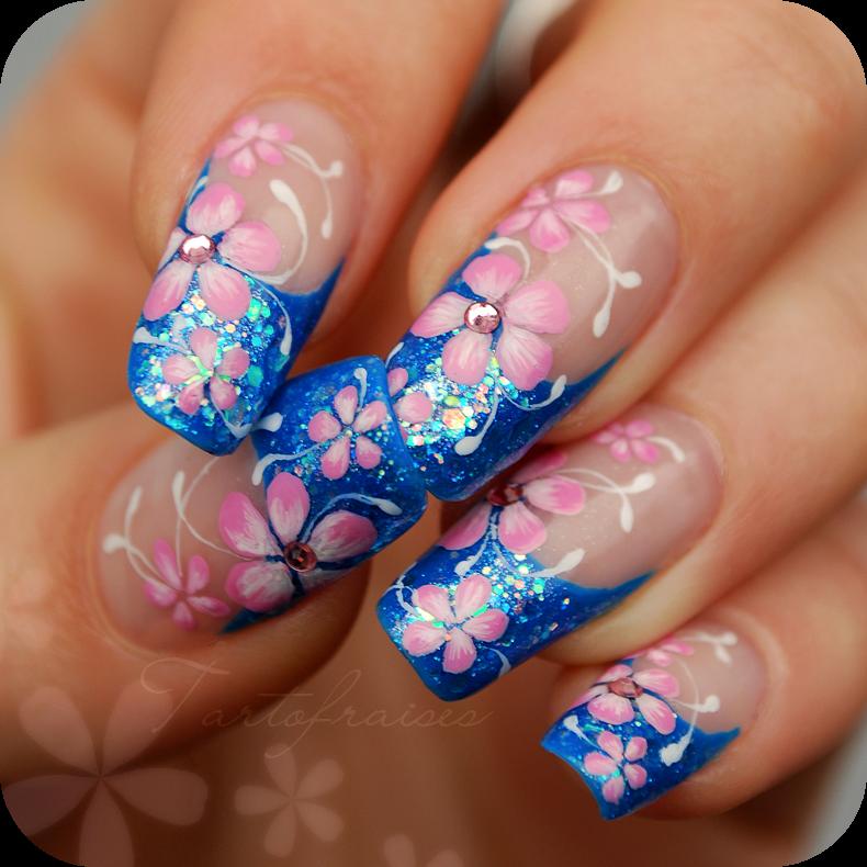 Nail art Pro\'Grif & Manucure n°3 – French de printemps | Floral Nail ...