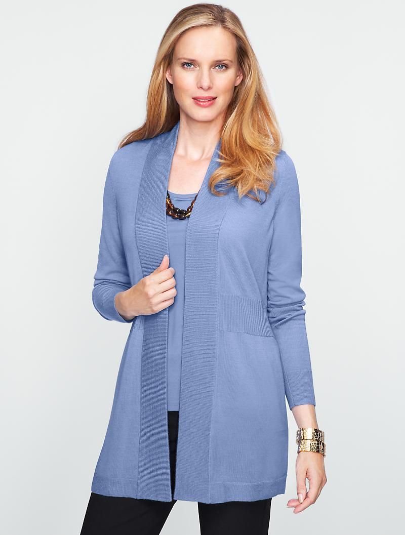 Talbots - Merino Wool Flyaway Cardigan | Sweaters | Misses ...
