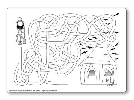 Labyrinthes d 39 halloween imprimer gratuitement - Labyrinthe a imprimer ...
