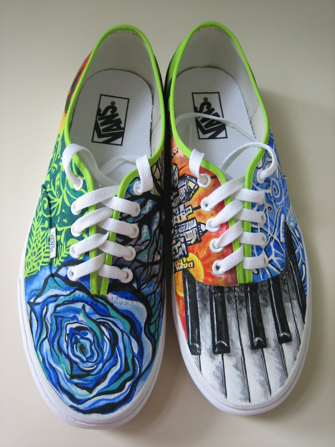 Items similar to Customized hand painted shoes on Etsy