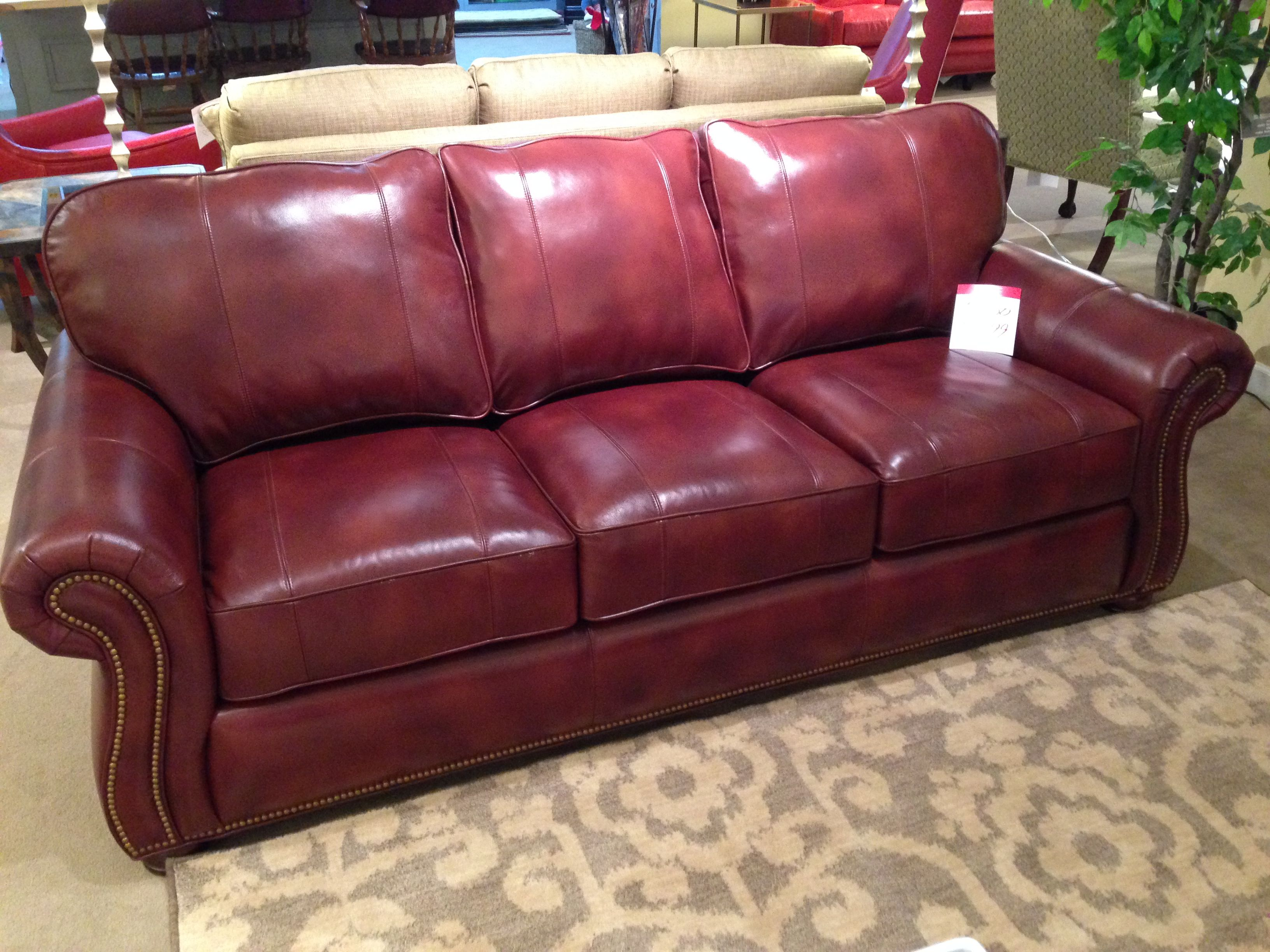Leather Sofa with Nailhead Trim | Spotlight on Leather ...