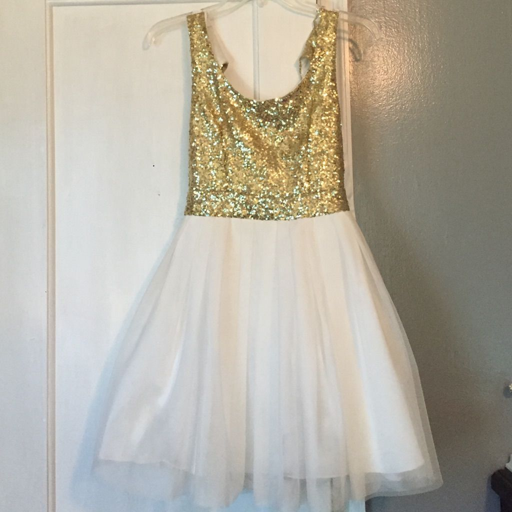 Goldwhite homecoming dress white homecoming dresses and products