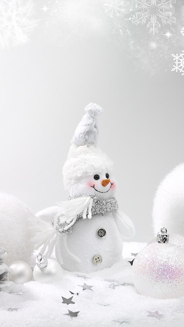 Winter White Christmas Wallpaper Snowman Wallpaper Holiday Wallpaper