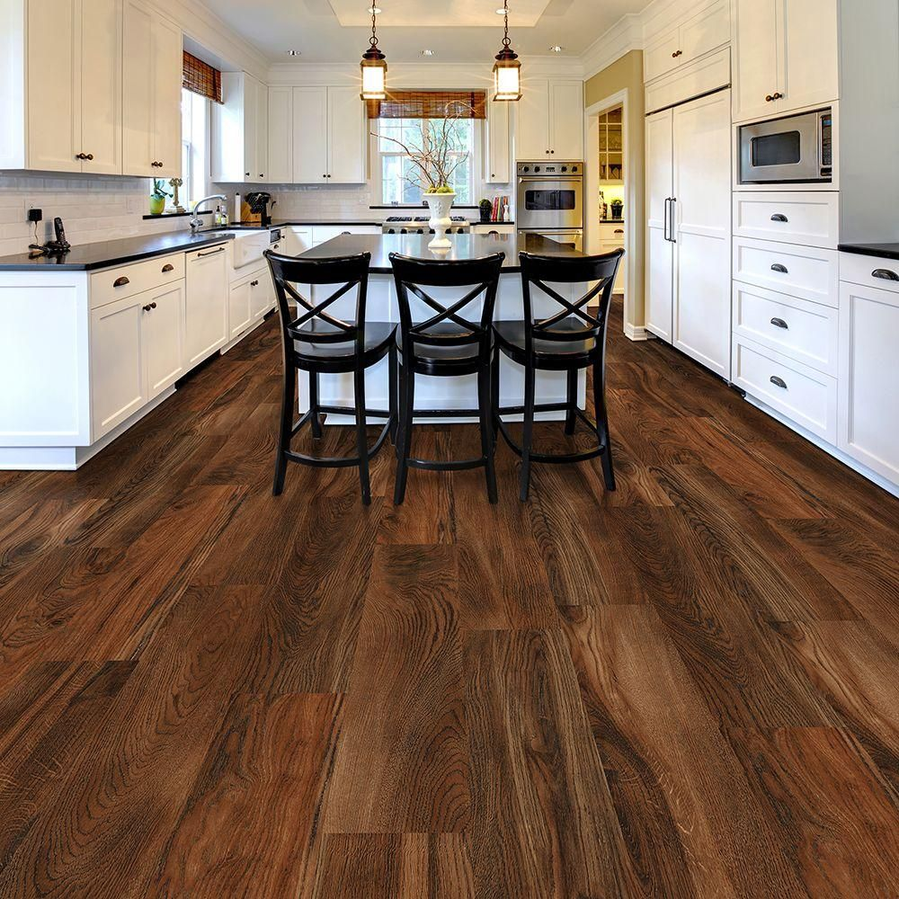 Trafficmaster Allure Ultra Wide 8 7 In X 47 6 Red Hickory Luxury Vinyl Plank Flooring 20 06 Sq Ft Case 100217s At The Home Depot Mobile