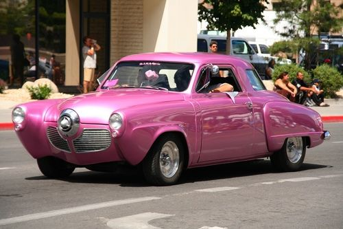 Studebaker In Car Parade Reno Pink Truck Pink Car Studebaker