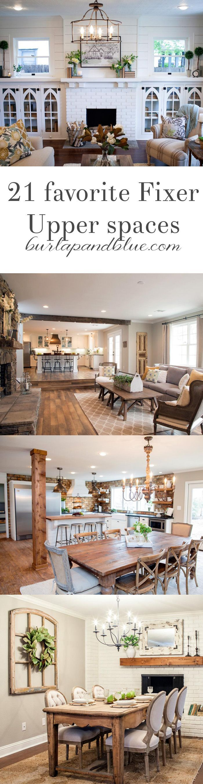 fixer upper kitchens, living and dining rooms {21 favorites!} | Haus ...