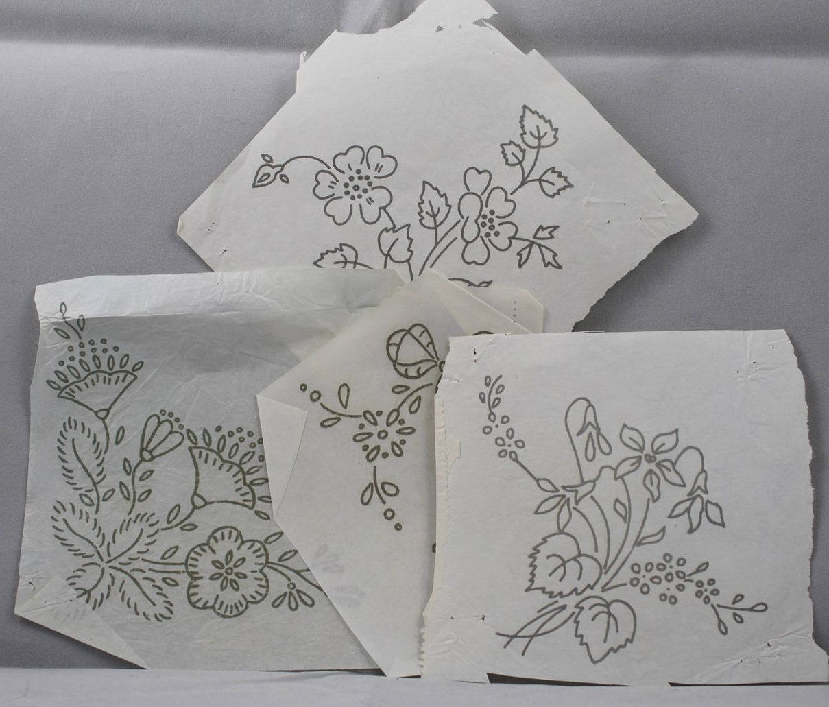 Mixed flowers vintage ironon transfers iron flowers and