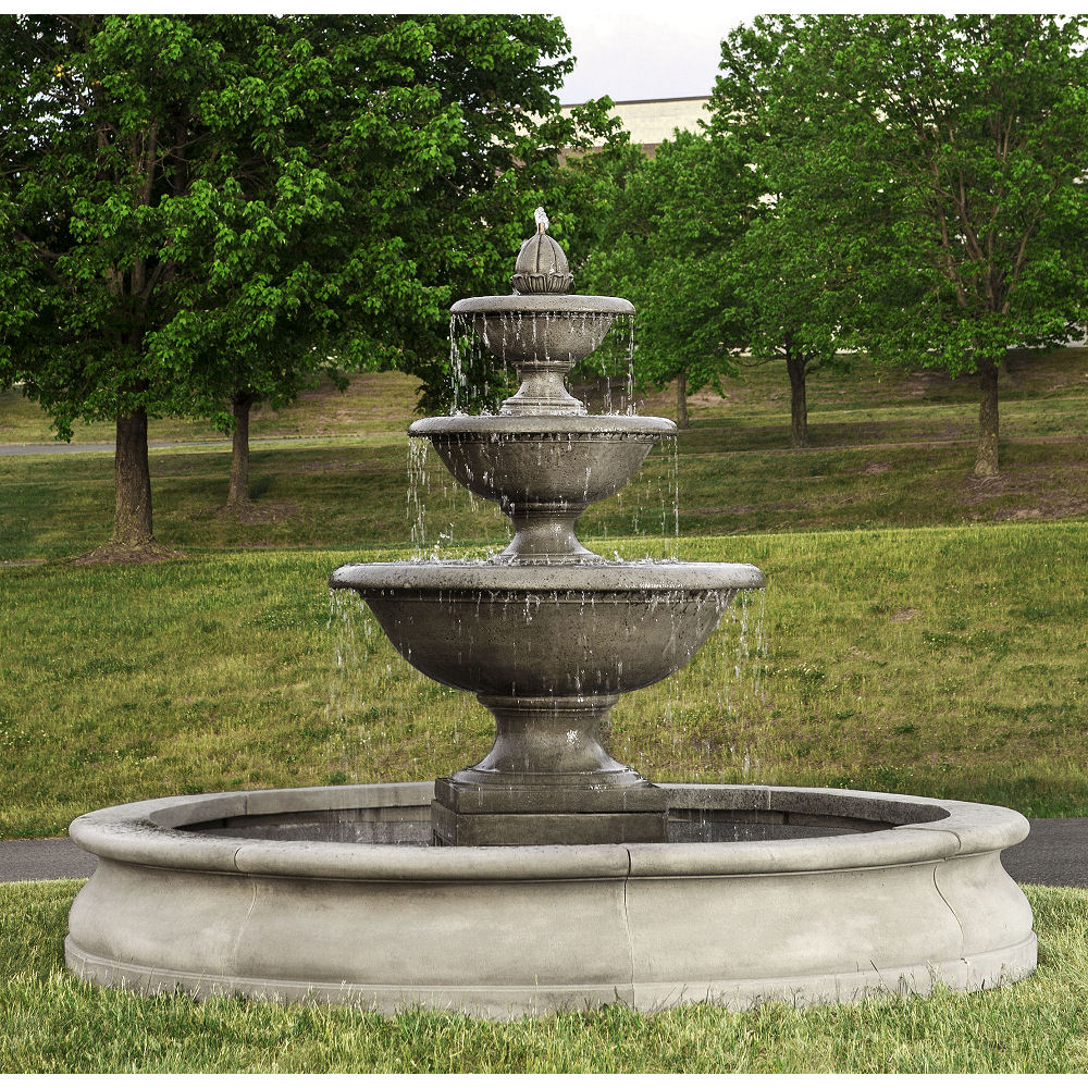 Monteros Fountain In Basin Extra Large Kinsey Garden Decor In 2020 Water Fountains Outdoor Fountains Outdoor Garden Fountains