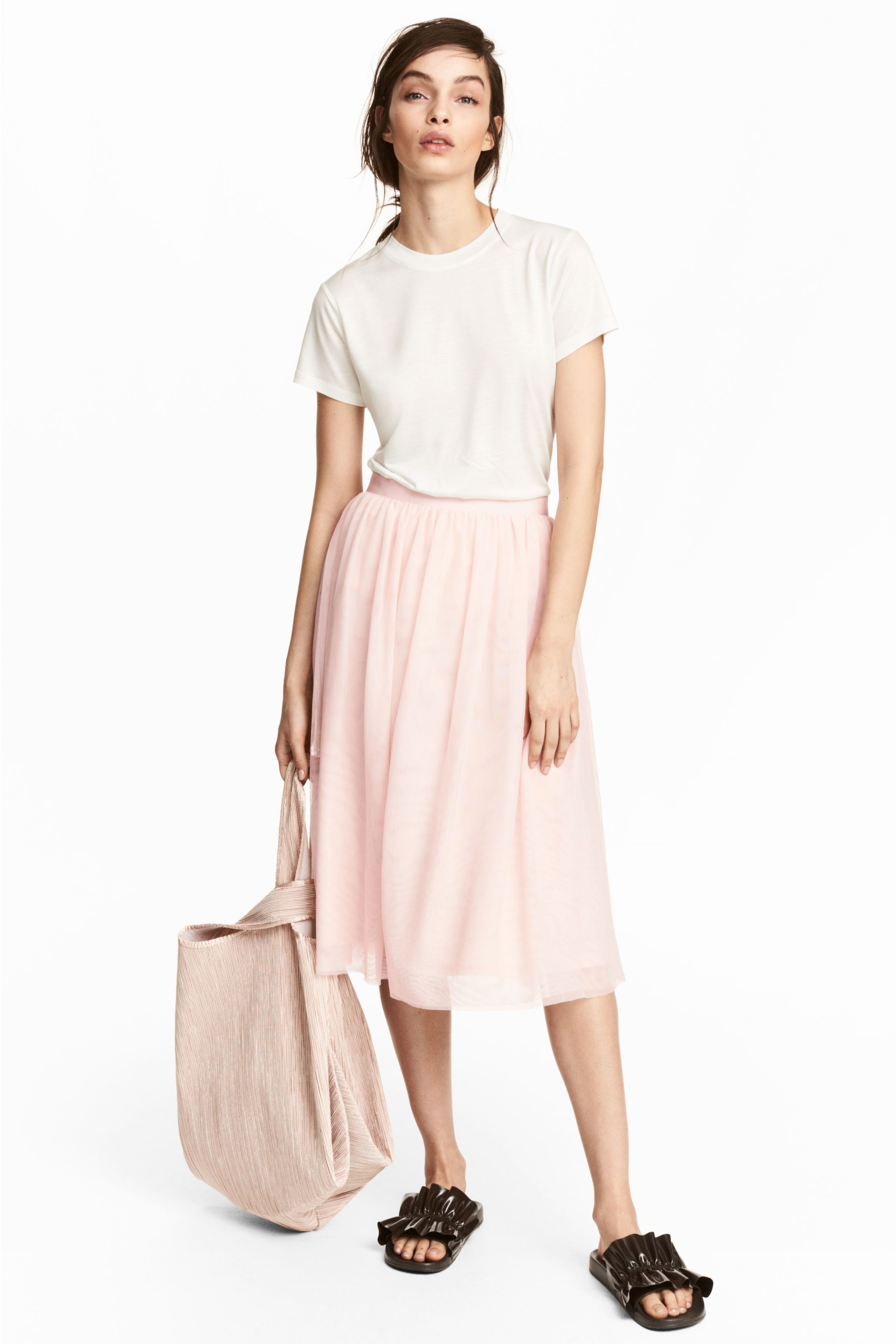 Pleated skirt  Pink lady