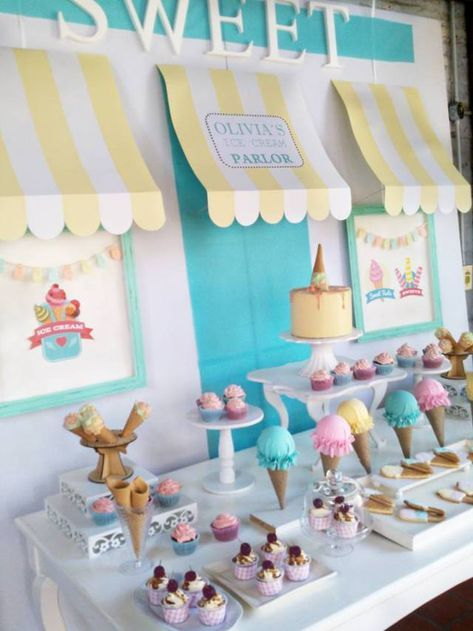 Super birthday party themes ice cream ideas #icecreambirthdayparty