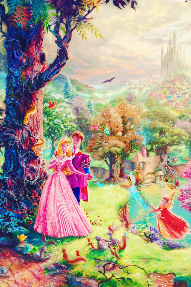 """"""" Sleeping Beauty iPhone backgrounds"""
