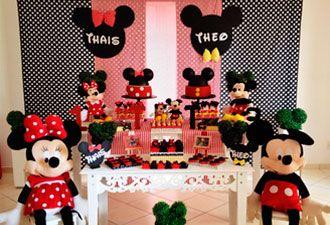 Decoração Mickey e Minnie Clean
