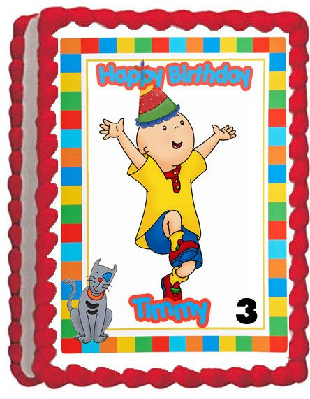 4 Caillou Edible Cake Topper by ItsEdible on Etsy 899 kids