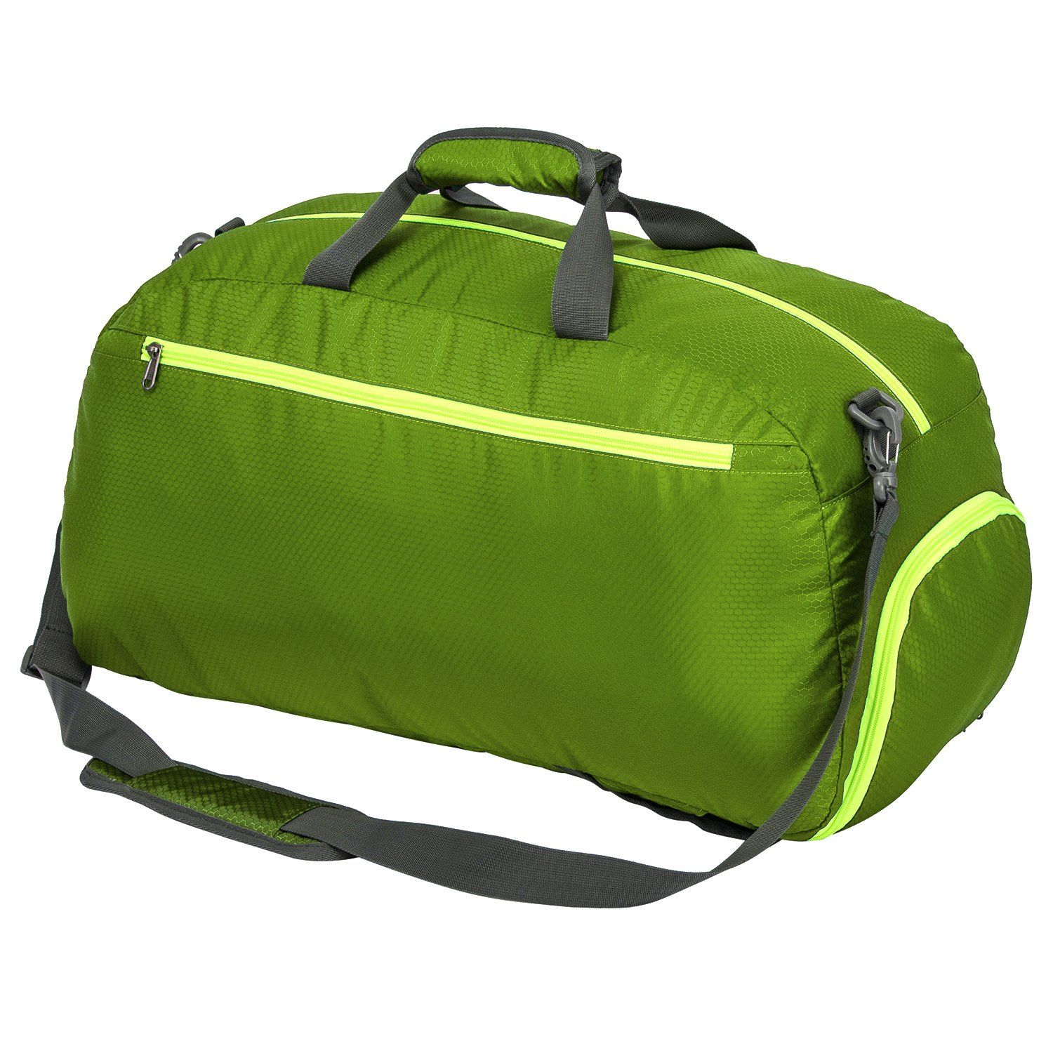 Riavika Travel Duffel Bag Backpack Luggage Gym Sports Bag With Shoe Compartment Green Visit The Image Link Duffel Bag Backpack Sports Bags Gym Travel Duffel