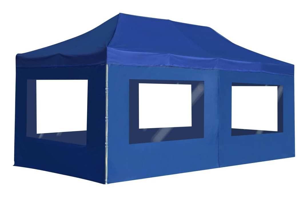 tente pliable 3 x 6 m bleu