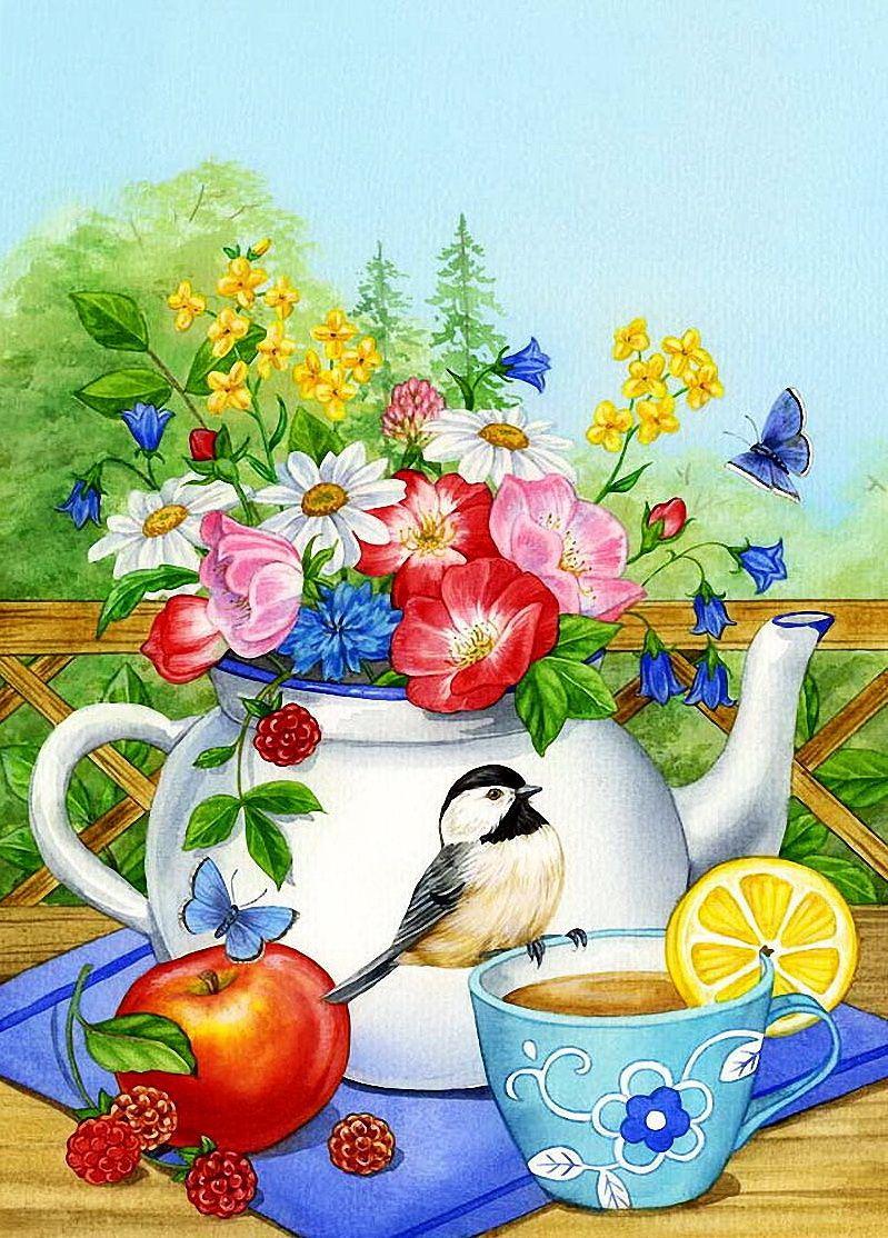 Картинки доброе утро с птичками