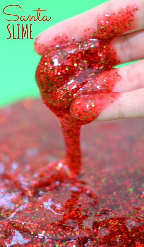 Santa Slime Recipe! This could be amazing for the tiny human!