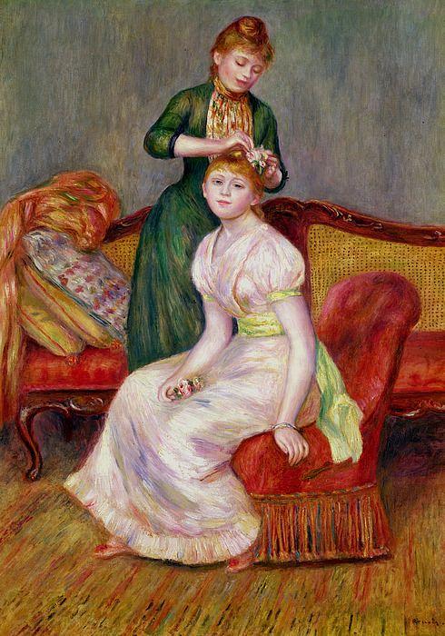 La Coiffure By Renoir Pierre Auguste Renoir Renoir Paintings Renoir Art