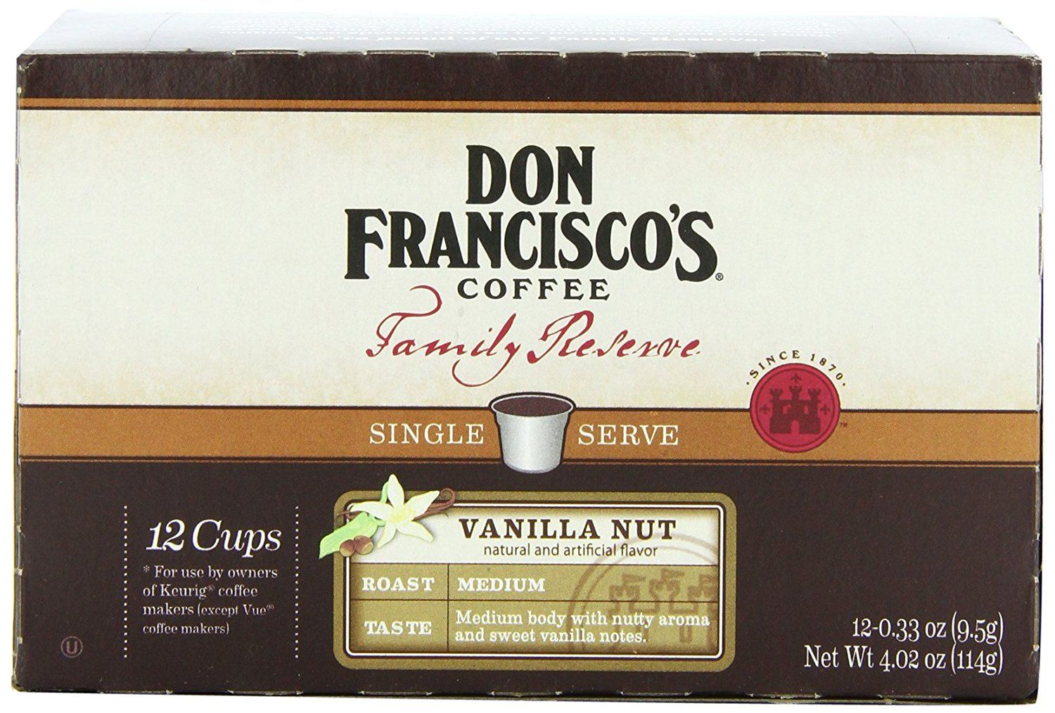 Don franciscos coffee family reserve single serve coffee
