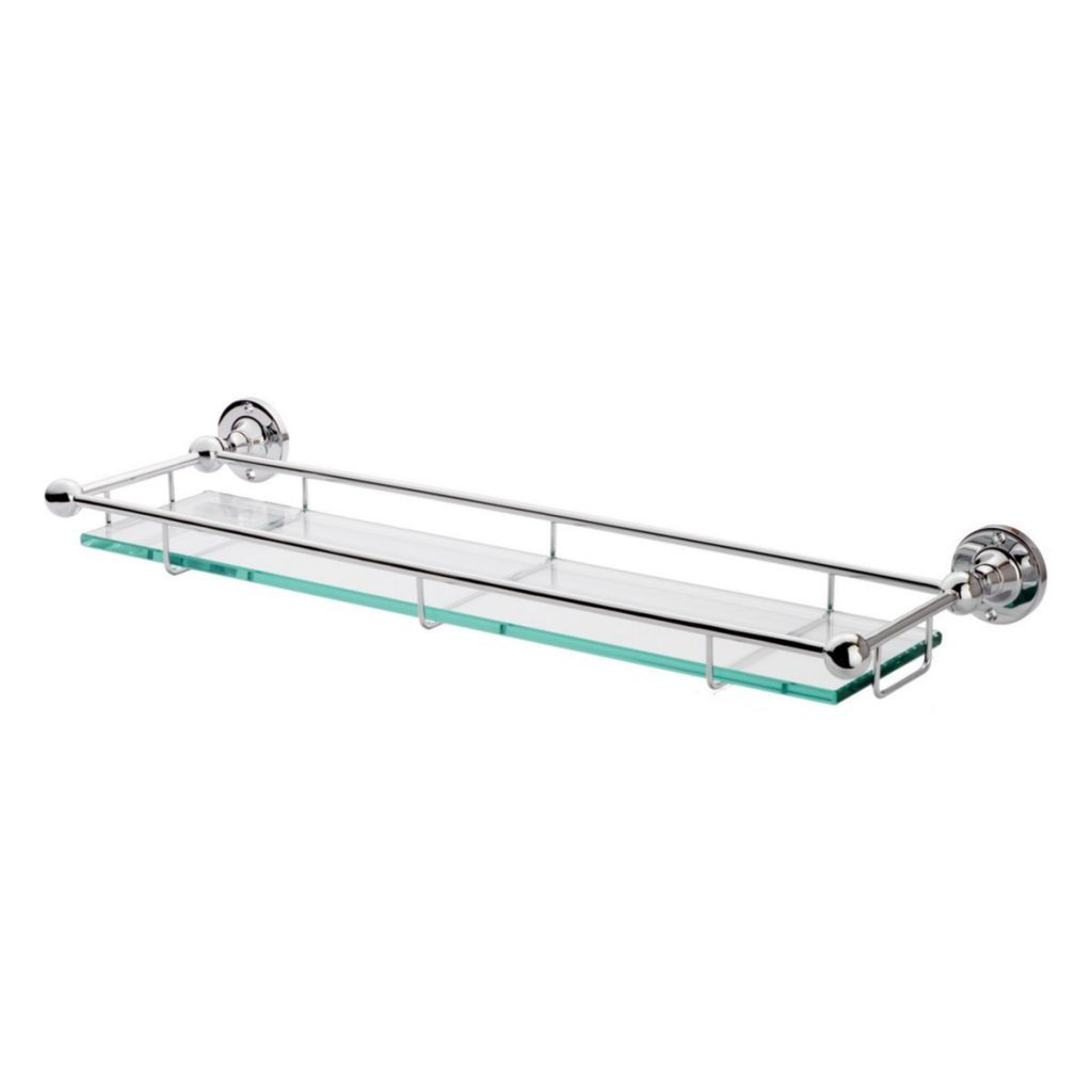 Bathroom Glass Shelf With Rail Glass Bathroom Shelves Glass