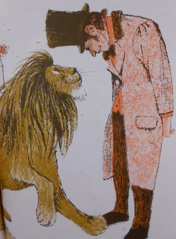 Fierce the Lion Vintage Childrens Book by Evaline Ness