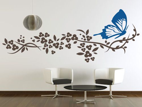 Butterfly Blossom Branch Nature Wall Decal | Nature, Br And Blossoms