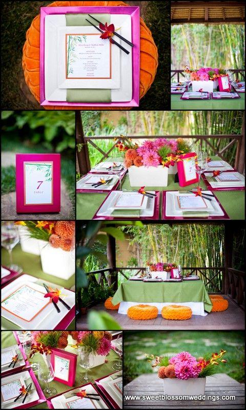 Asian inspired dinner party | Party ideas | Pinterest | Deko
