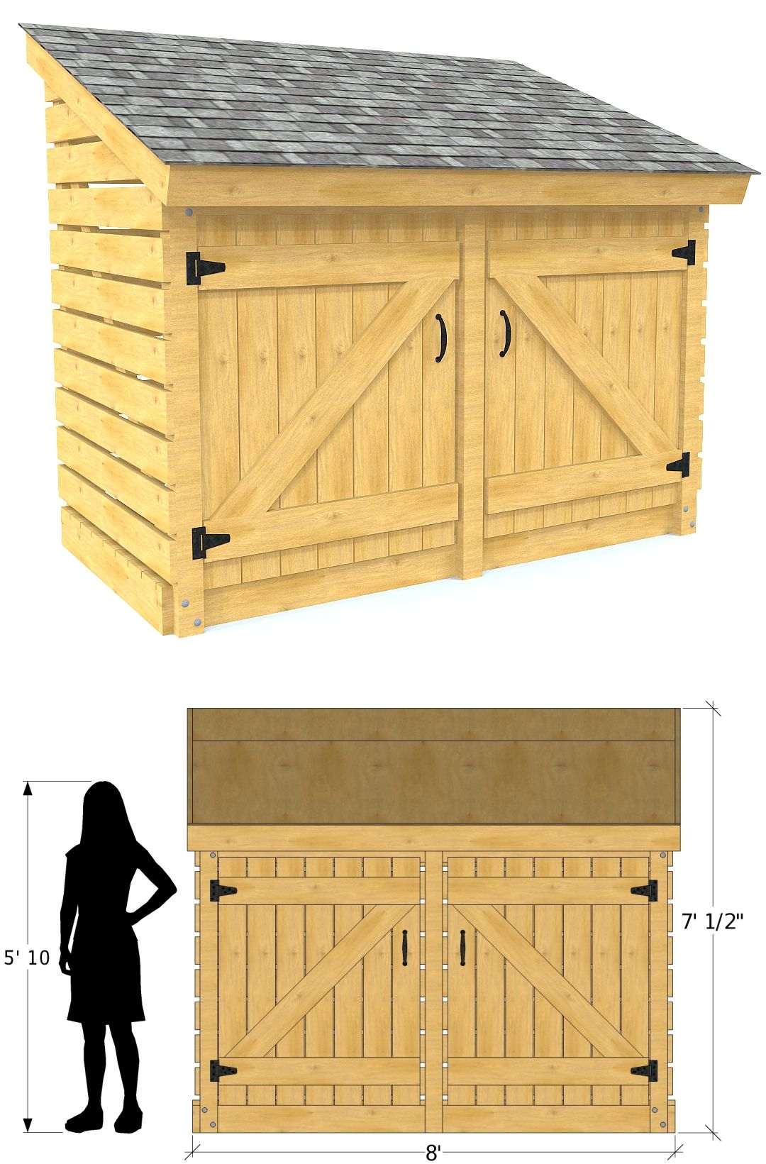 4x8 Free Small Shed Plan In 2019