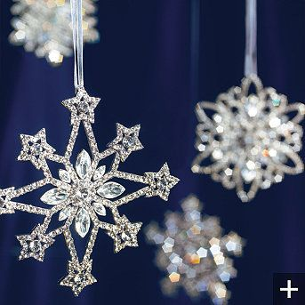 eb0c553e6 crystal snowflake ornaments | Jingle Bells | Glass christmas ...