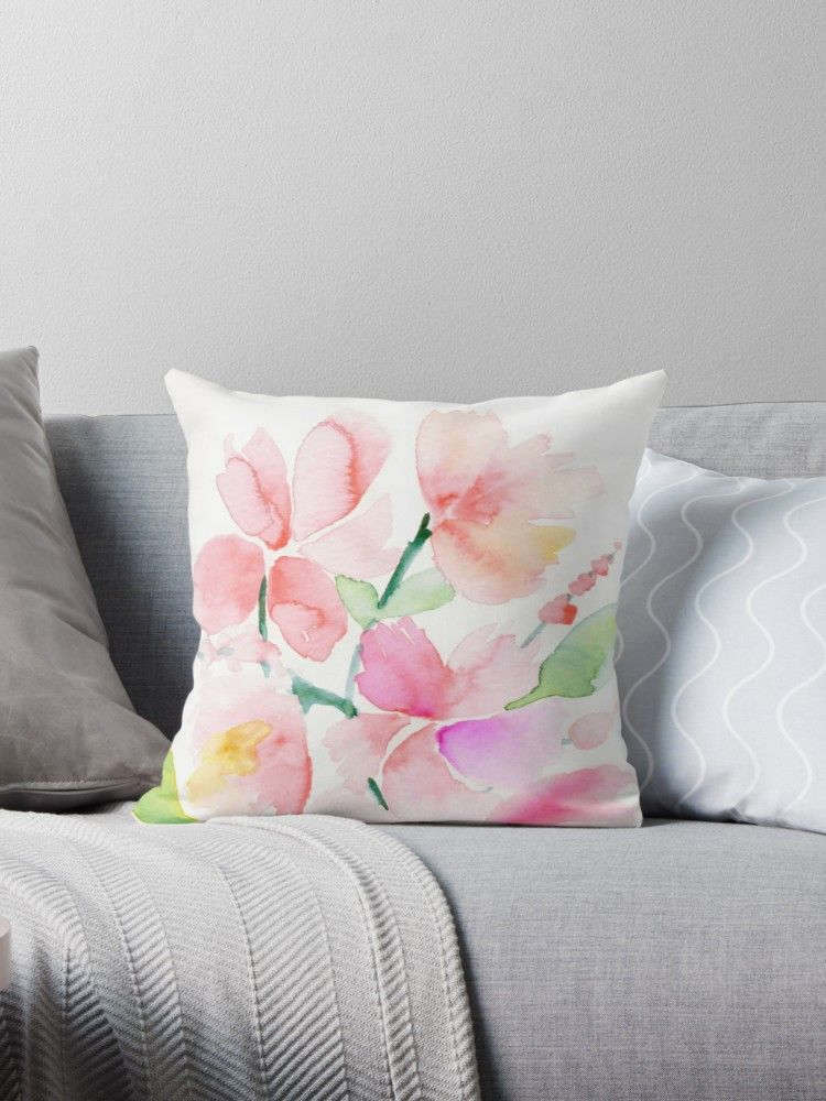 Soft Floral Throw Pillow By 3willows Floral Throw Pillows