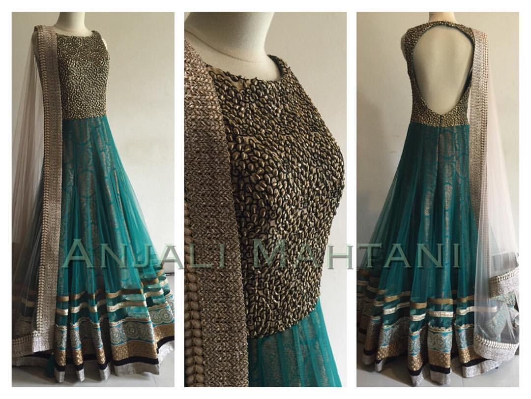 7a09a2dc1e Beautiful Teal anarkali by Anjali Mahtani   Anarkali   Indian attire ...