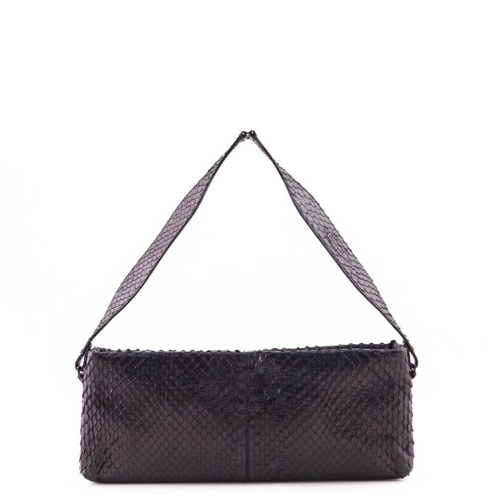 Tod s Black Python Embossed Small Shoulder Bag - LOVE that BAG - Preowned  Authentic Designer Handbags 2544b823fb414