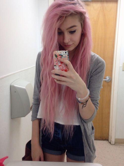 Pink lange haare