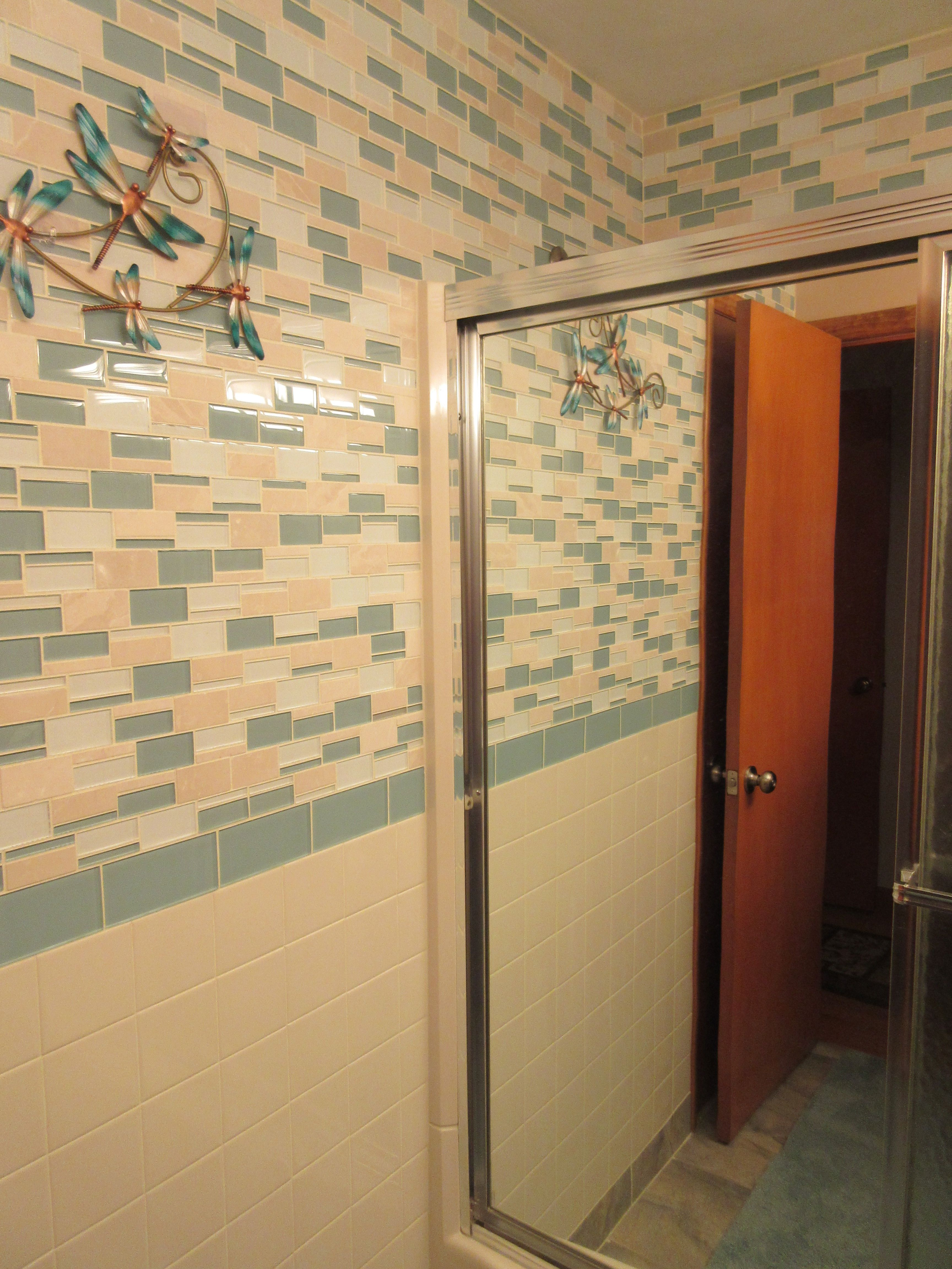 Fresh Fun Mosaic Tile Bathroom American Olean Color Appeal Pacific - 4x4 almond wall tile