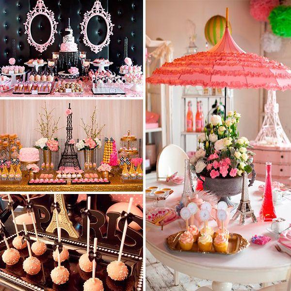 Catering y mesa de dulces cumples pinterest fiestas - Decoracion de paris ...