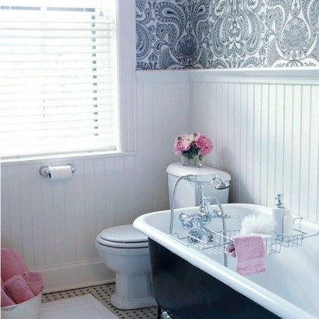 classic grey bathroom designs and ideas with beadboard