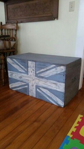 Sanded down an old chest and gave it a new paint job. Added a custom design on the front for a cool look. I will be posting more information soon on how I did the pattern on our blog at www.paintedkarma.com.