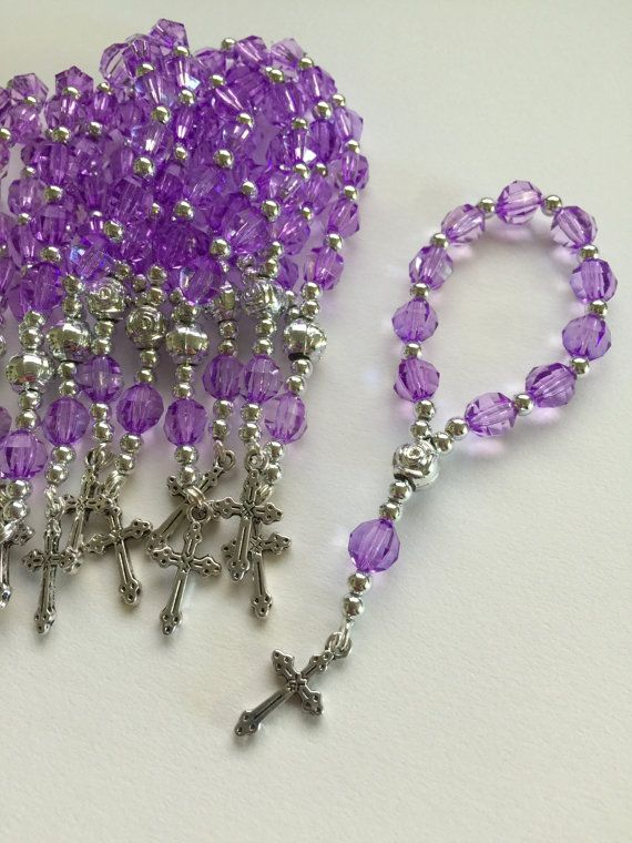 50 Pcs Kit Purple Mini Rosary/ Pocket by PrimaCollectibles on Etsy