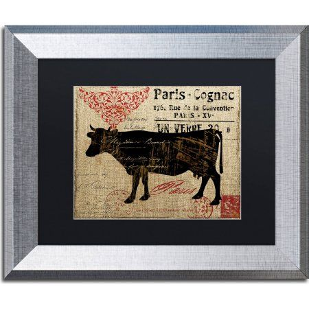 Trademark Fine Art Paris Farms I Canvas Art by Color Bakery, Black Matte, Silver Frame, Size: 11 x 14, Assorted