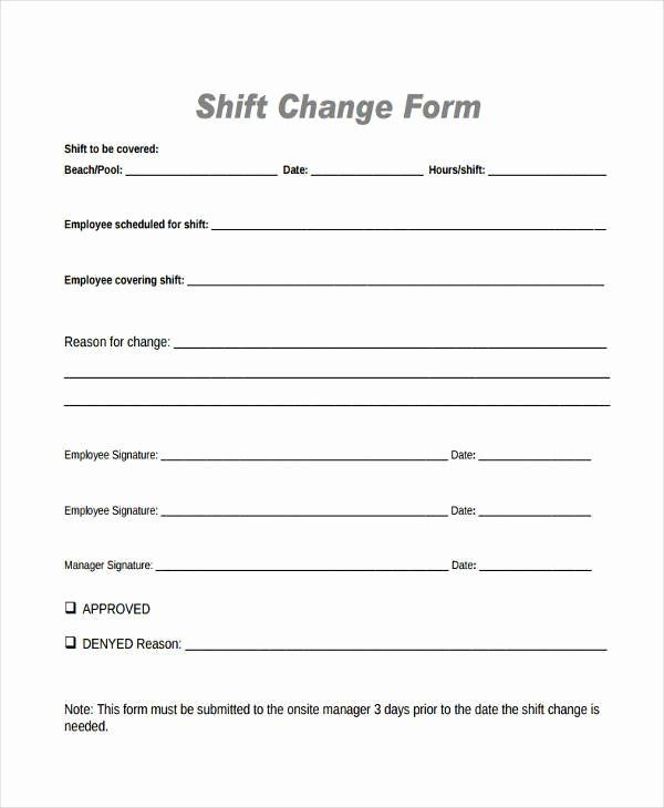 Employee Change Form Template Best Of Sample Employee Shift Change Forms 7 Free Documents In Classroom Newsletter Template Templates School Newsletter Template