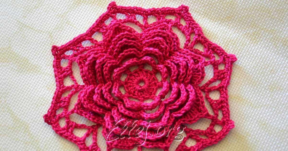 Вяжется такой мотив в два приема: сначала вяжем каркас для ряда лепестков, потом лепестки... Crochet by Ellej - фото- видео- мастер-классы по вязанию крючком.