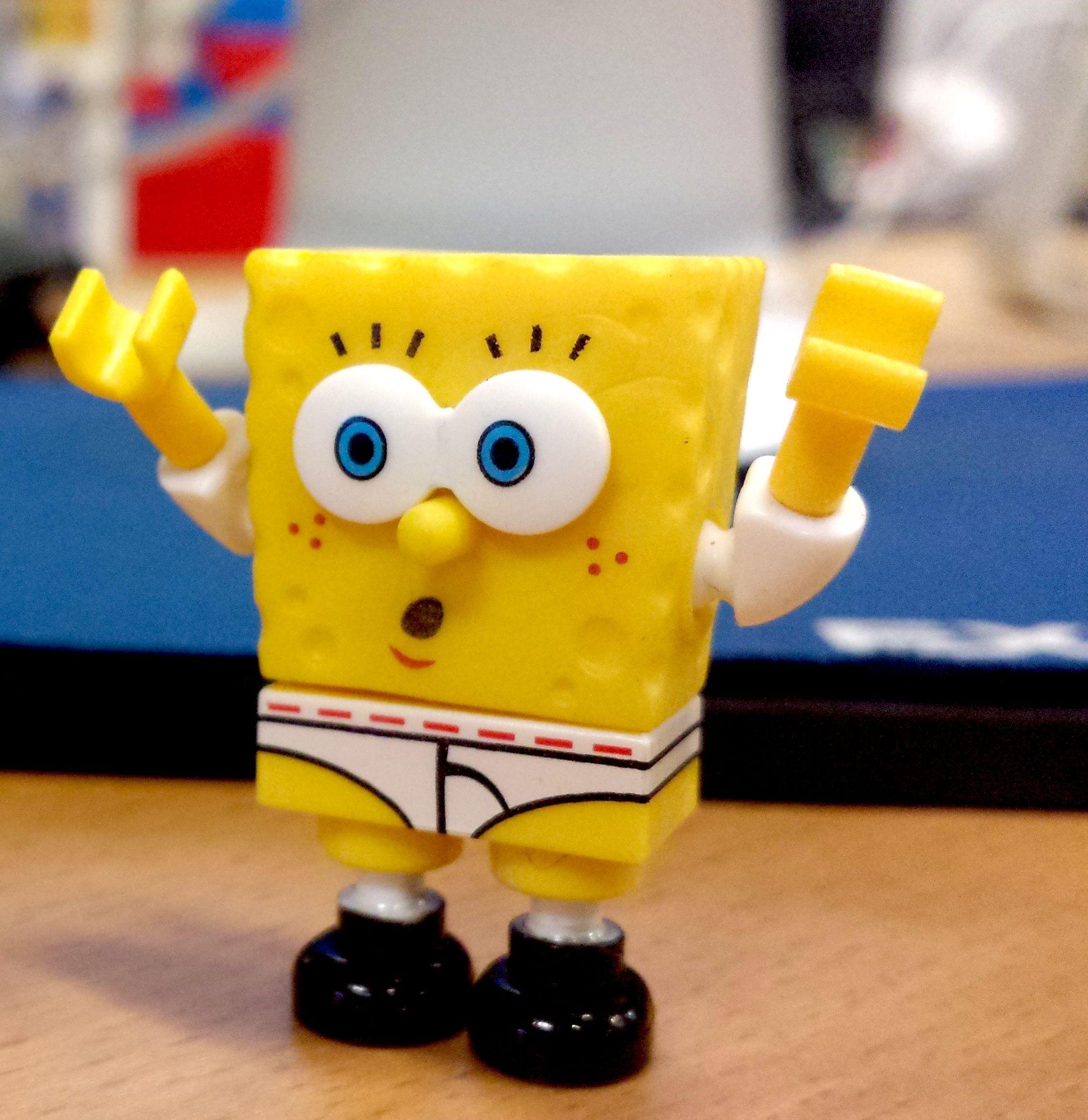 d57e2991435218 Oops! This SpongeBob Mega Bloks figure forgot to wear pants today ...