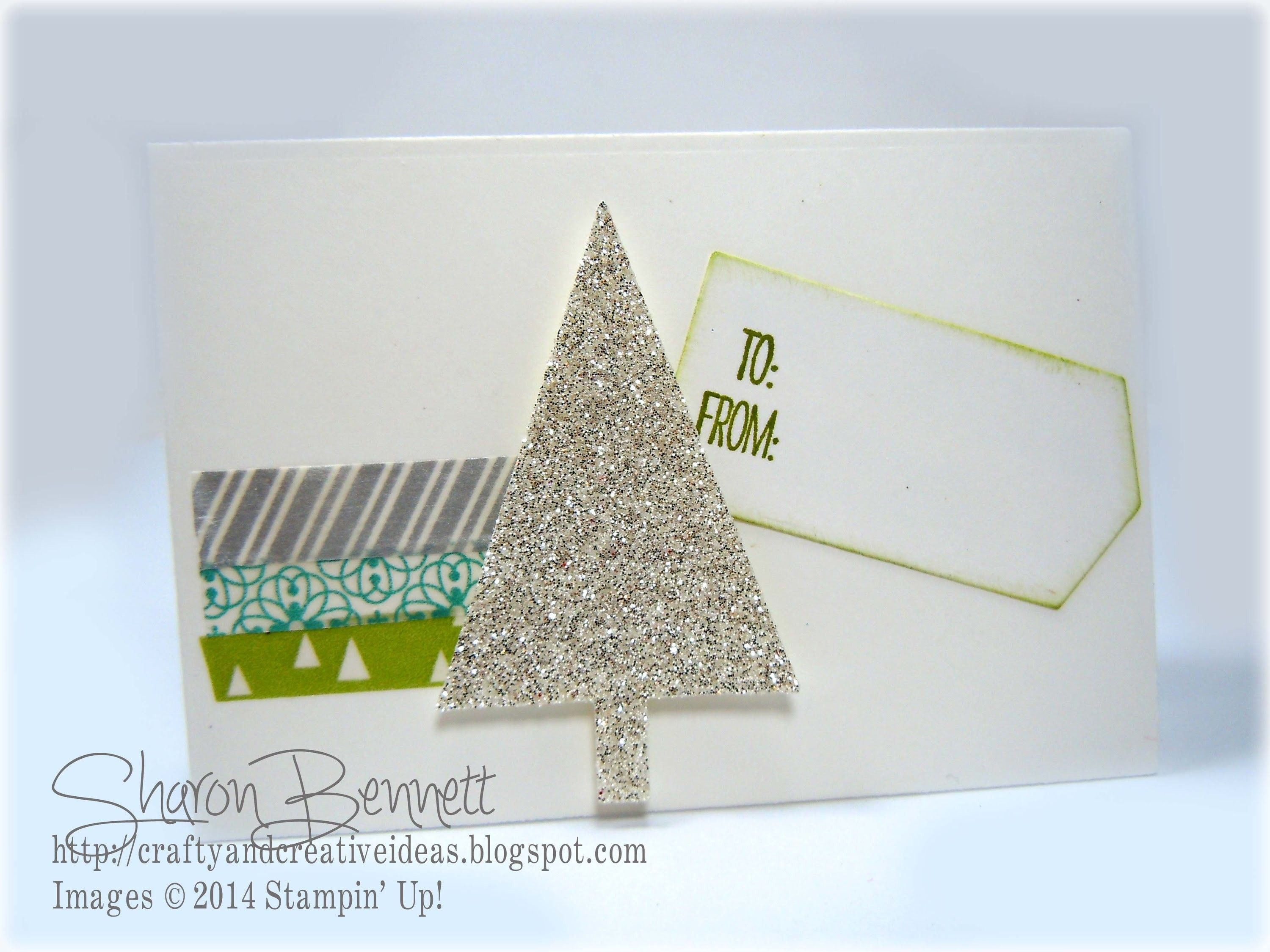 Stampin UP Christmas Gift Card Using Gift Card Envelope & Trims Thinlits Dies