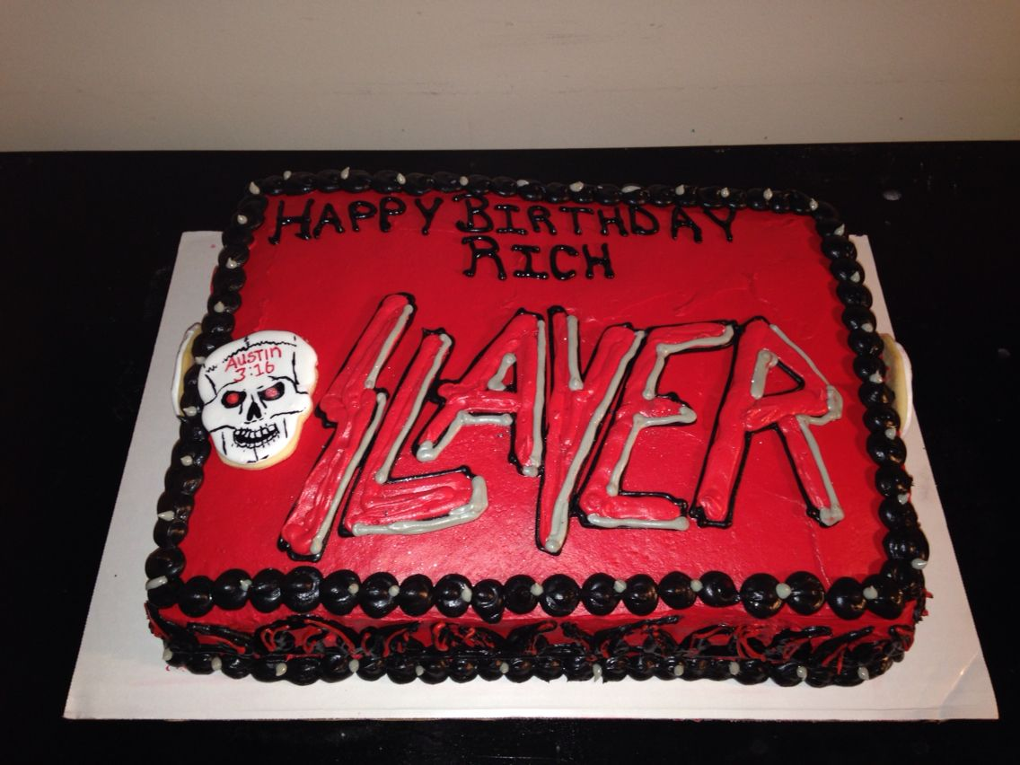 Slayer Cake Tiffanyshomemade Tiffanyshomemadeverizonnet - Slayer birthday cake