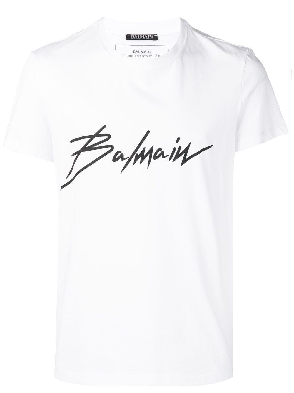 edc133a4 BALMAIN BALMAIN LOGO PRINT T-SHIRT - WHITE. #balmain #cloth ...