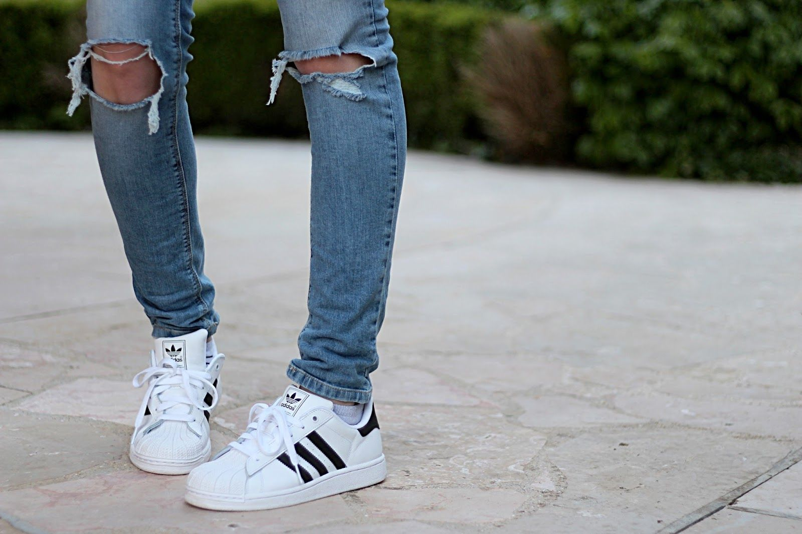 Ripped Jean & Adidas Superstar. #MaFash14ContestW1Florence ...
