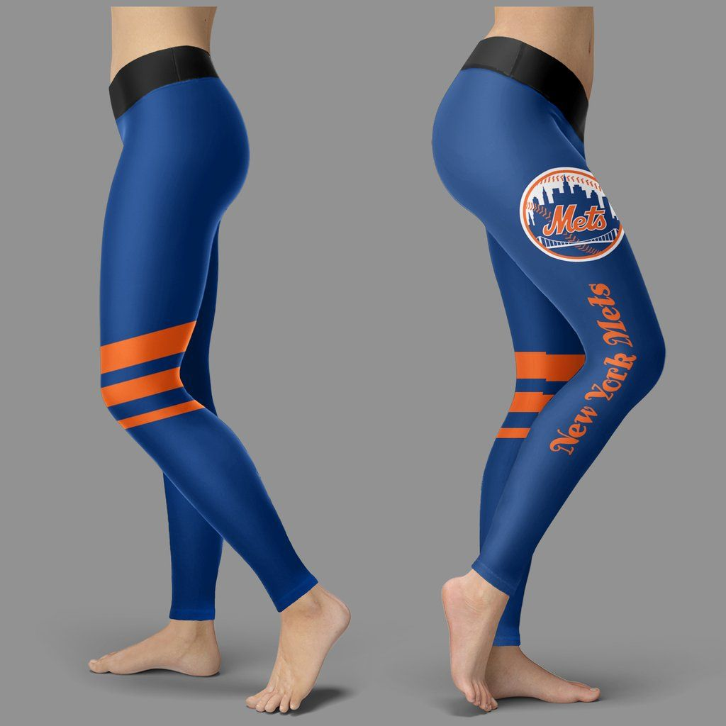 eace7bd3f6cae9 Through Great Logo Spread Body Striped Circle New York Mets Leggings – Best  Funny Store